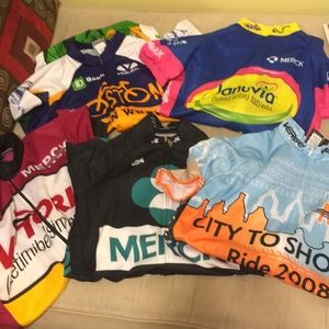 ♀️Collection of bike shirts! 5 for $40! for sale